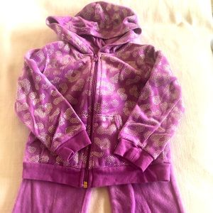Purple Velour Jumpsuit 18 months